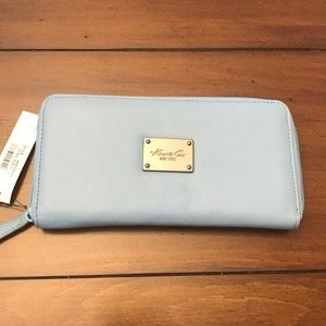 Kenneth Cole cornflower blue leather wallet NWT